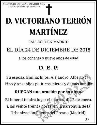 Victoriano Terrón Martínez